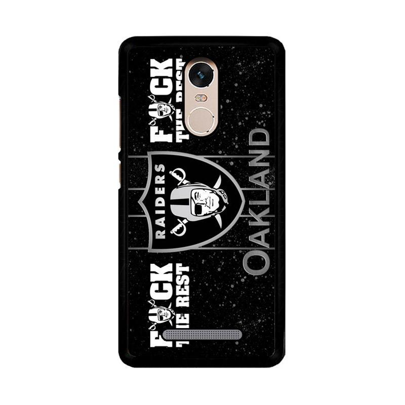Flazzstore Oakland Raiders Logo Z4054 Custom Casing for Xiaomi Redmi Note 3 or Note 3 Pro