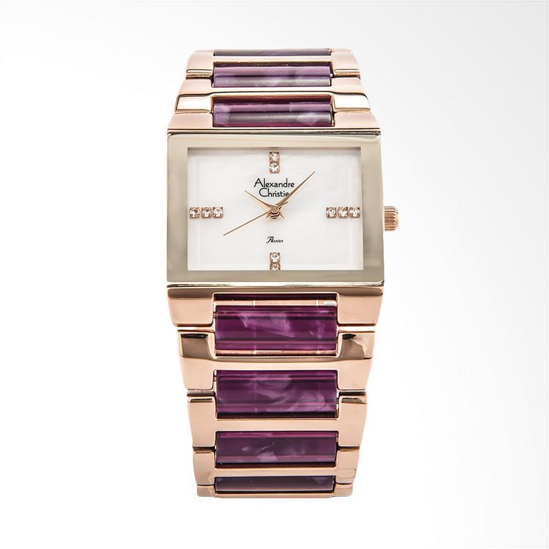Alexandre Christie AC 2612 LH BRGMSPU Dual Tone Jam Tangan Wanita - Rose Gold