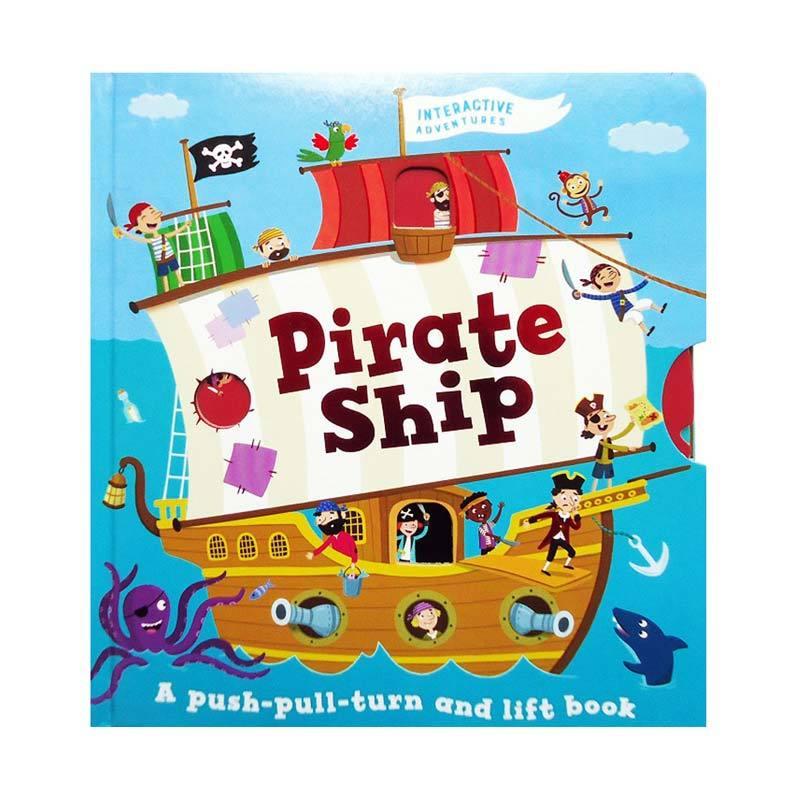 Genius Pirate Ship A Push-Pull-Turn and Lift Book Buku Edukasi Anak