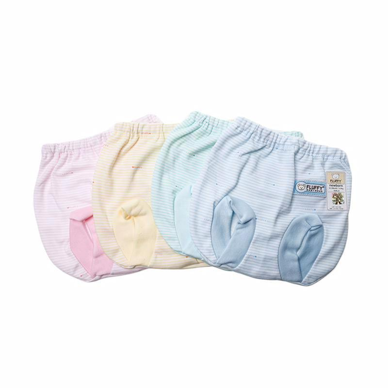 Fluffy Salur Celana Pop Bayi - Multicolor [4 pcs]