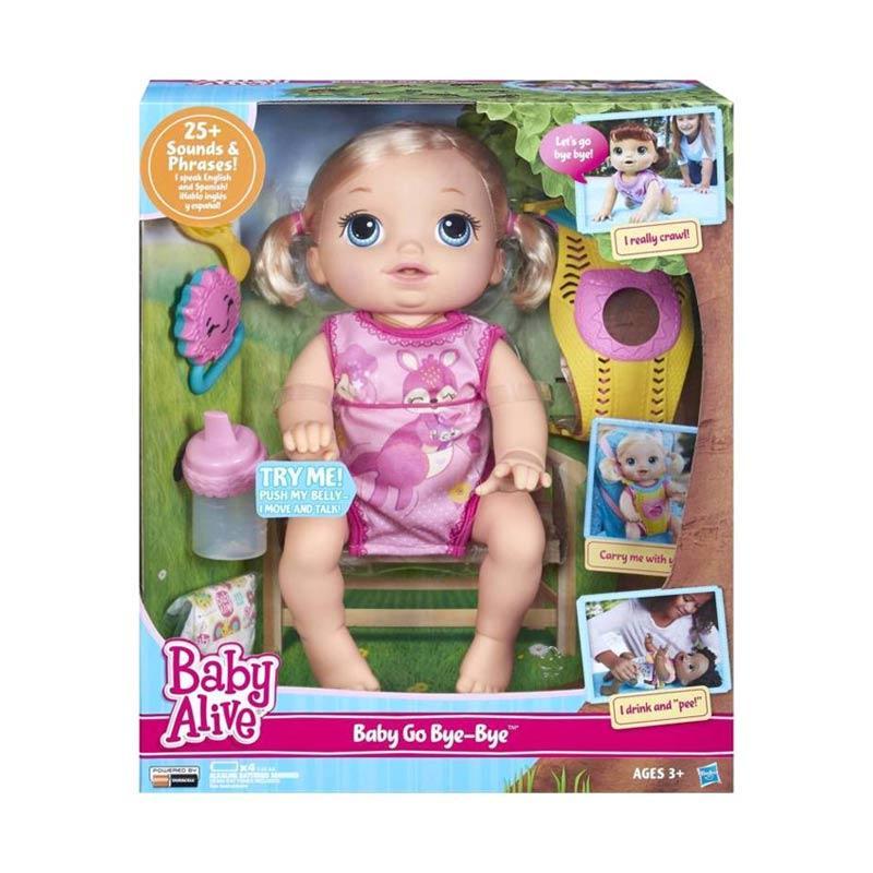 harga Baby Alive C2688 Baby Go Bye Bye Blonde Doll Boneka Elektronik Blibli.com