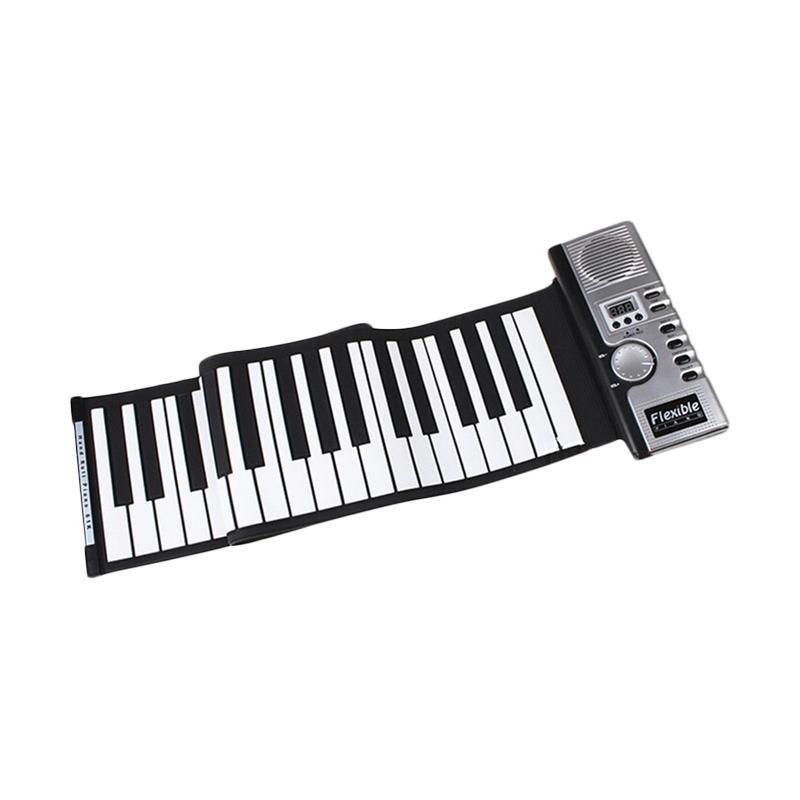 harga Selft Digital Roll Up Soft Keyboard Piano 61 Key with Midi Function Blibli.com