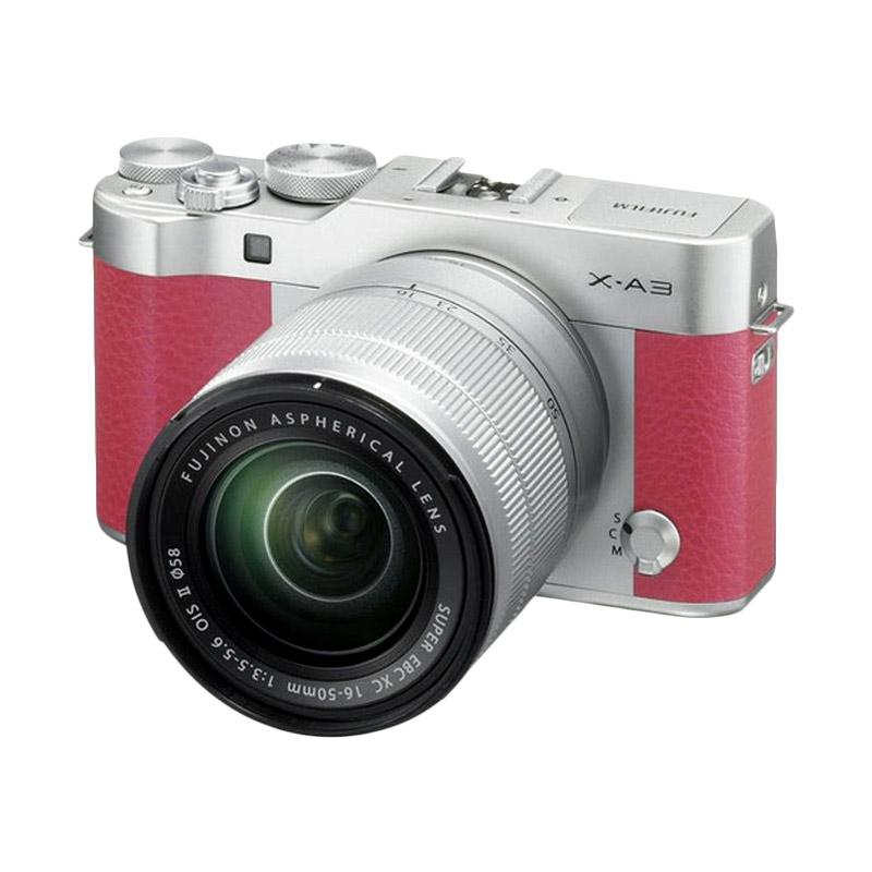 harga Fujifilm X-A3 Kamera Mirrorless with 16-50mm Lens - Pink + Free Instax Mini 8 Kamera Polaroid + SDHC Kartu Memori 16 GB Blibli.com