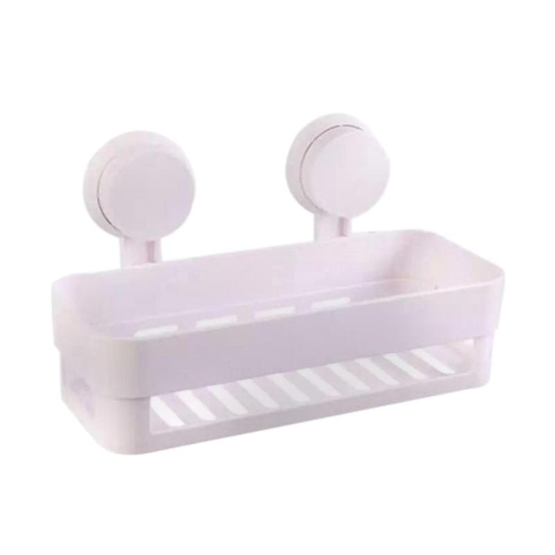 Yangunik Bathroom Shelves Rak Sabun dan Shampo - Putih [1 Susun]