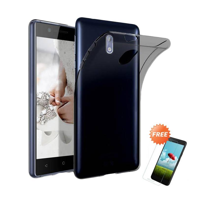 harga OEM Ultra Thin Softcase Casing for Nokia 2 2018 - Grey + Free Tempered Glass Blibli.com