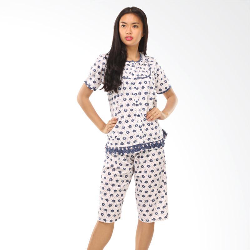 GRAZIEE BJ009 Flower Motif Setelan Baju Tidur Wanita