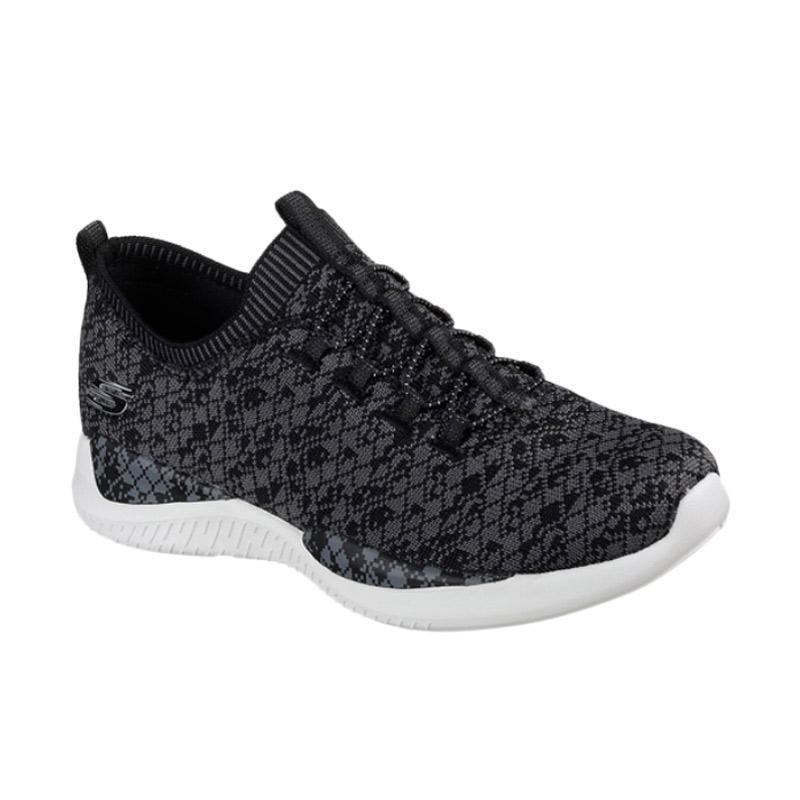 Skechers Sport Wmns Matrixx Walking Sepatu Olahraga Wanita - Black Motif [12458BKGY]