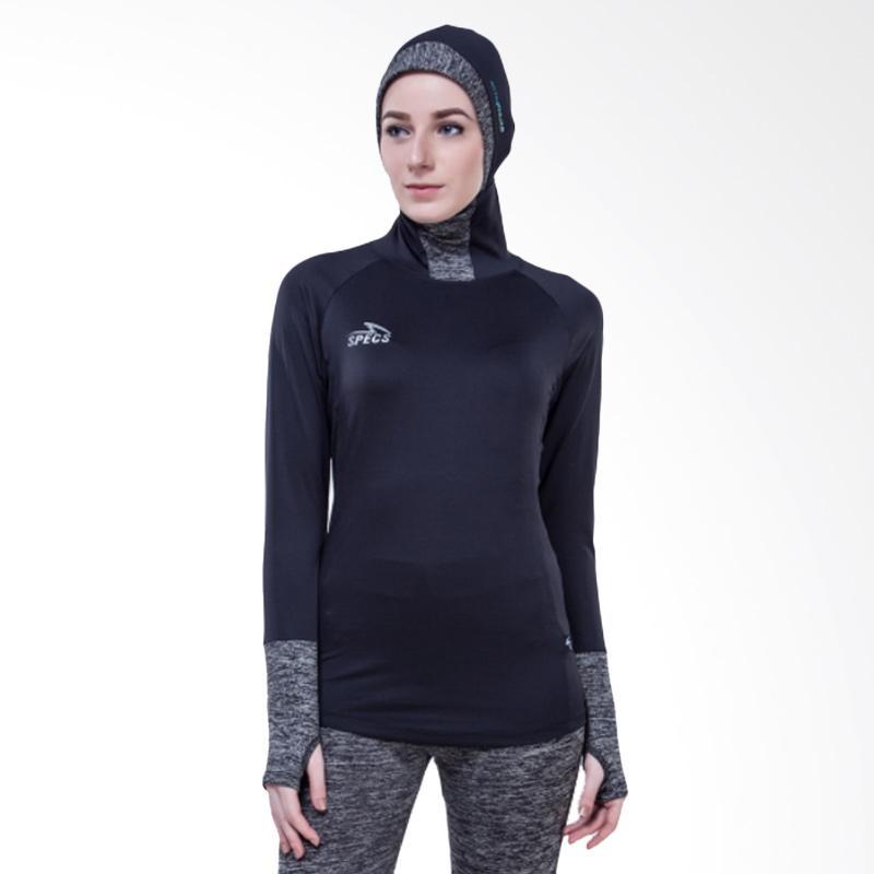 Specs Esorra Baselayer LS Manset Olahraga Wanita - Black Grey [W 903435]