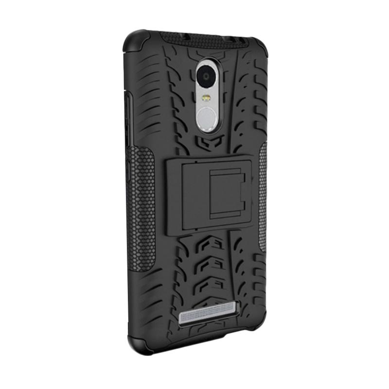 HEAVY PEDAL Armor Rugged Hybrid Casing for Xiaomi Redmi Note 3 - Black