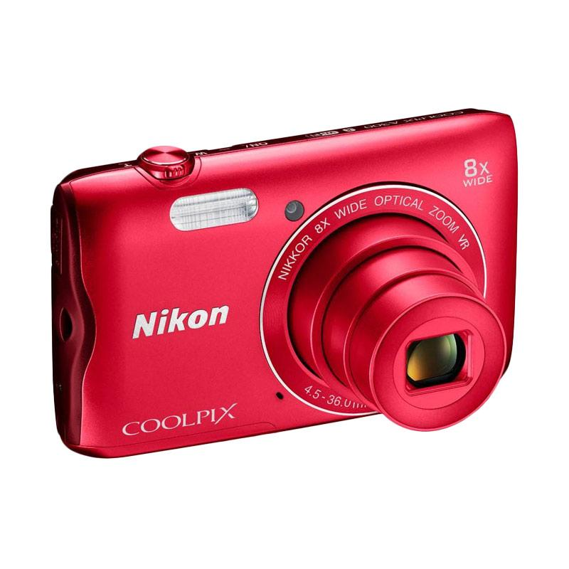 harga Nikon Coolpix A300 Kamera Pocket - Red Blibli.com