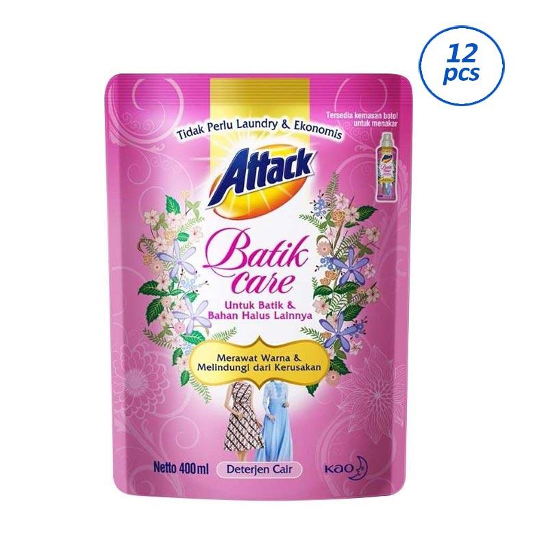 ATTACK Batik Care Deterjen Cair Pouch [400 mL/12 pcs]