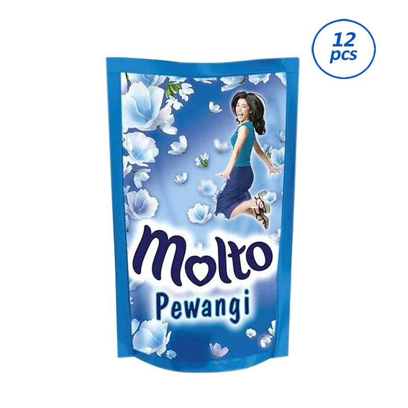 MOLTO Pewangi Floral Bliss Blue Pouch [900 mL/12 pcs] 62040095