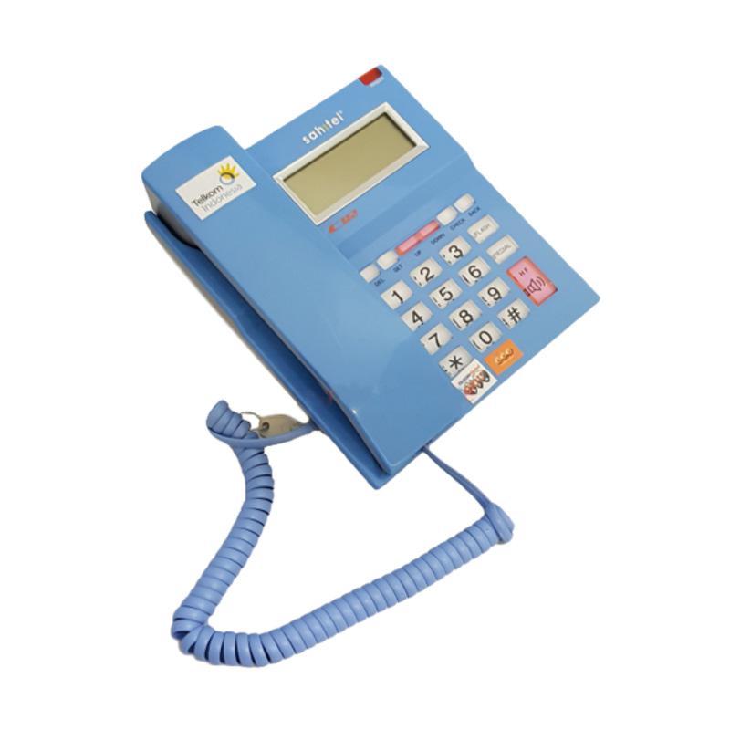 harga Telepon Kabel Single Line Sahitel S52 - Telephone Kantor Rumah - BLUE Blibli.com