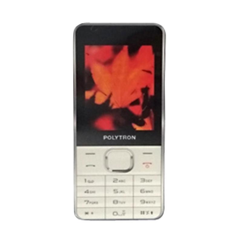 harga POLYTRON C24E Dual Sim Camera Double Speaker Handphone - White Blibli.com