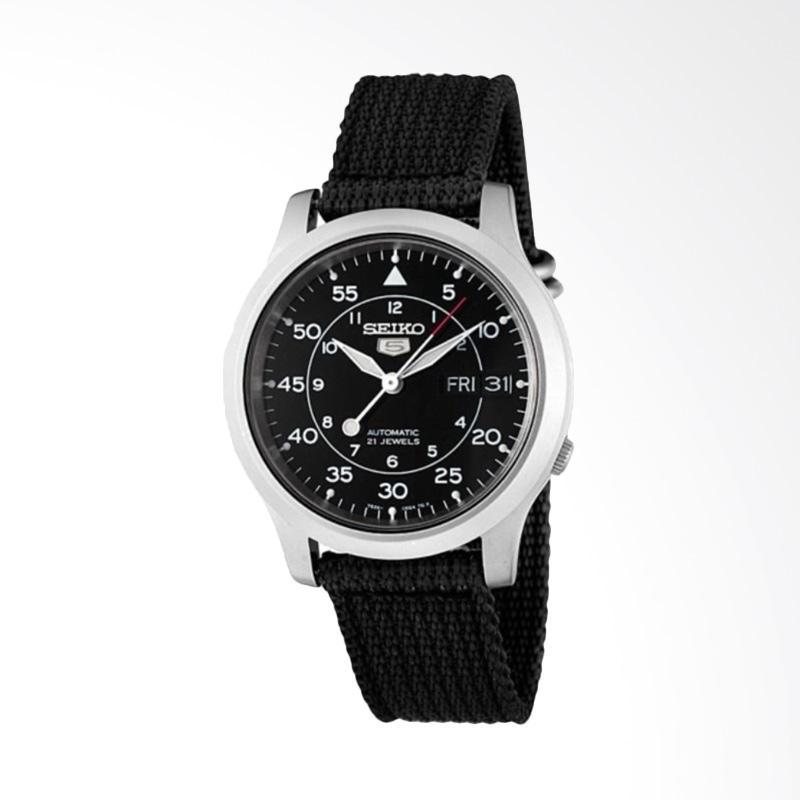harga Seiko 5 Military Automatic Jam Tangan Pria - Black [SNK809K2] Blibli.com