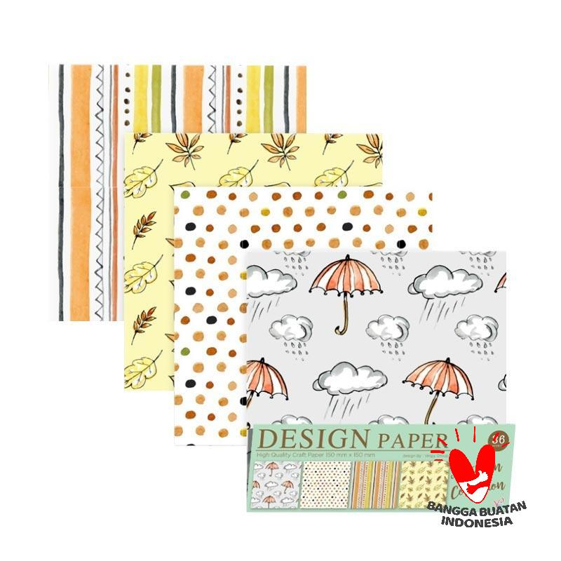 Vingy Home Decor Design Paper Art Craft Autumn Collection Kertas Origami 4 Motif