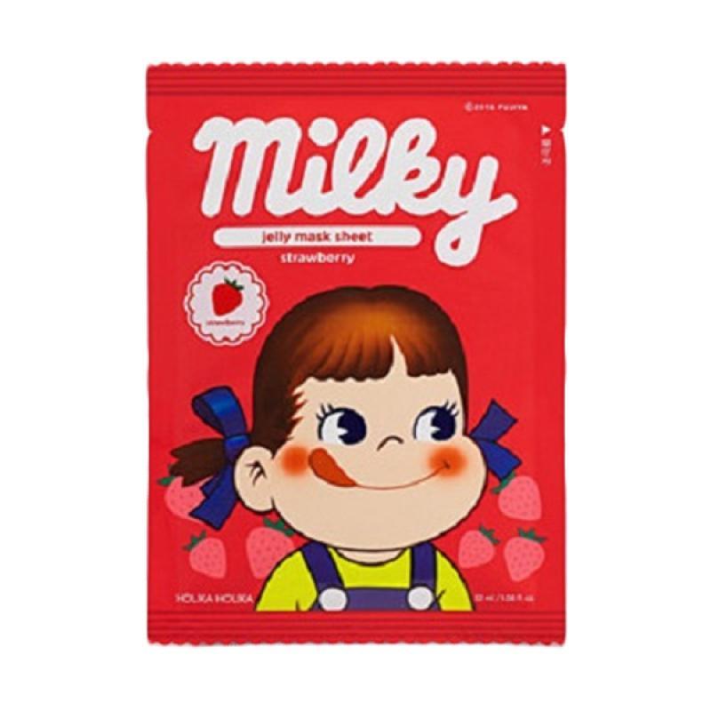 Holika Holika Pure Essence Jelly Mask Sheet Strawberry Masker Wajah