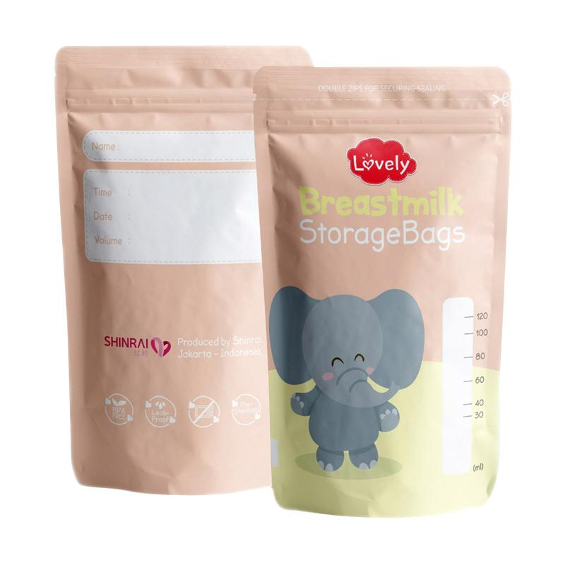 Lovely Breastmilk Storage Bag Kantong ASI Besar [120 mL]
