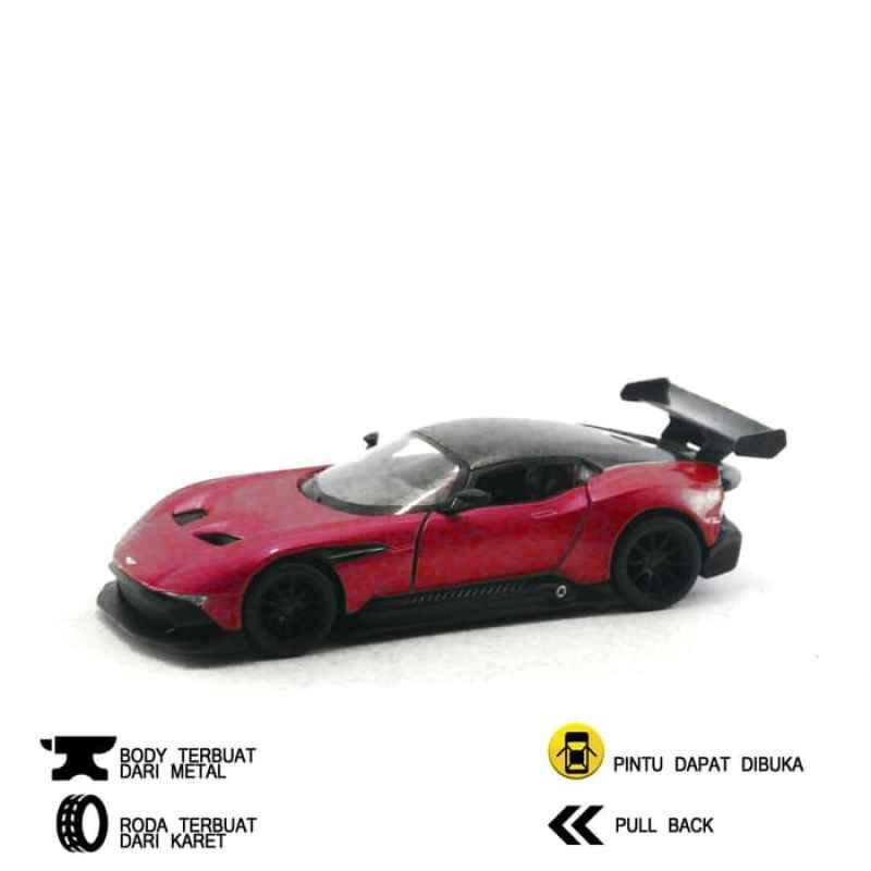 Jual Oem Mobil Aston Martin Vulcan Kinsmart Diecast Miniatur Merah Online Januari 2021 Blibli