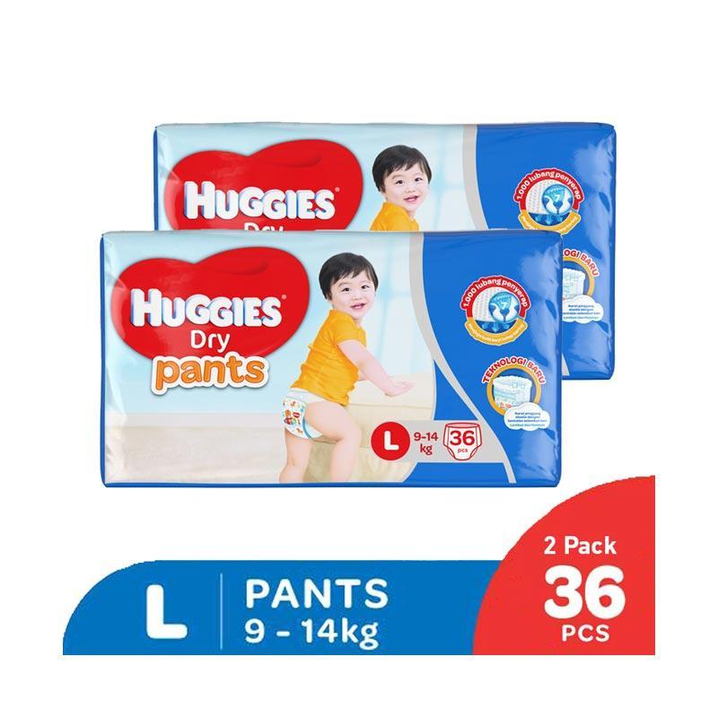 Paket Isi 2 Huggies Dry Pants Popok Celana