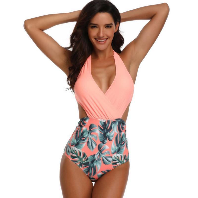Ladies//Teenagers  TIGER Tie Halter//Bandeau Monokini Swimming Costume  UK  12
