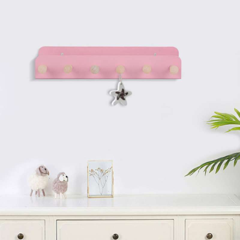 Jual Oem Iron Wall Mounted Storage Display Hanging Rack Shelf Home Decor Pink Online November 2020 Blibli Com