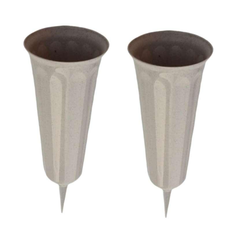 Jual Oem Stake In Ground Cemetery Grave Fluted Flower Vases Holder 2 Piece 10 2 Inch Online Februari 2021 Blibli