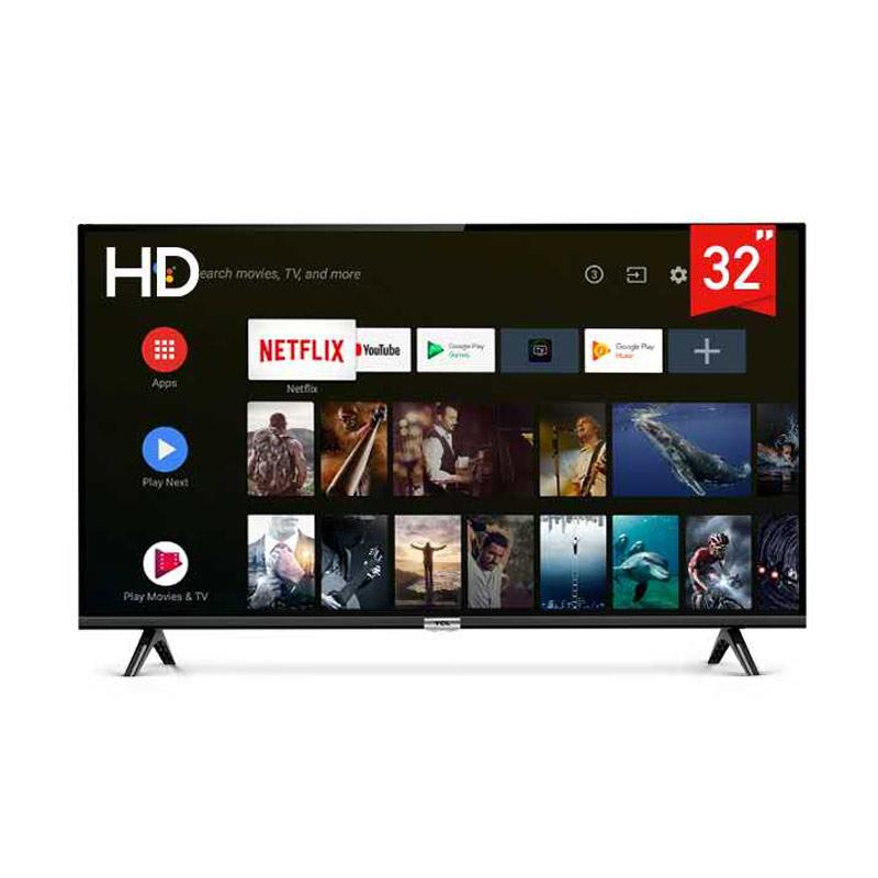 TCL Model 32A3 Smart LED TV [32 inch/Android 9.0/HD/Google Voice/Netflix/YouTube - WiFi/HDMI/USB]
