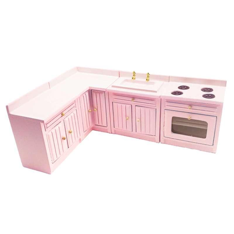 Jual Oem Dolls House Miniature Birch Wood Kitchen Cabinet Set Furnishings Diy 1 12 Online Desember 2020 Blibli