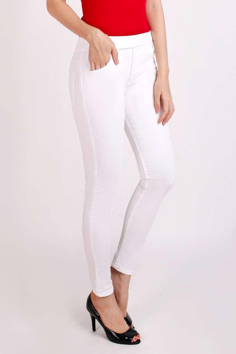 Jual Legging Jeans Putih Celana Panjang Legging Jeans Wanita Pinggang Karet Jumbo Big Size Jsk Jeans Online Oktober 2020 Blibli Com