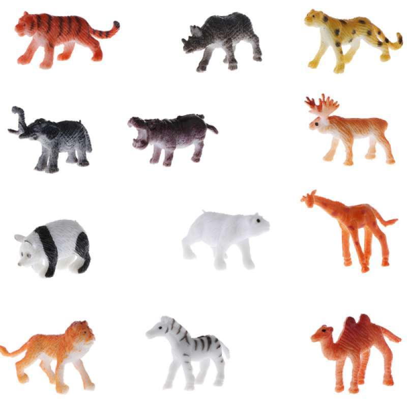Jual 12pcs Plastic Wildlife Animals Lion Tiger Leopard Model Figures Kids Toys Online Oktober 2020 Blibli Com