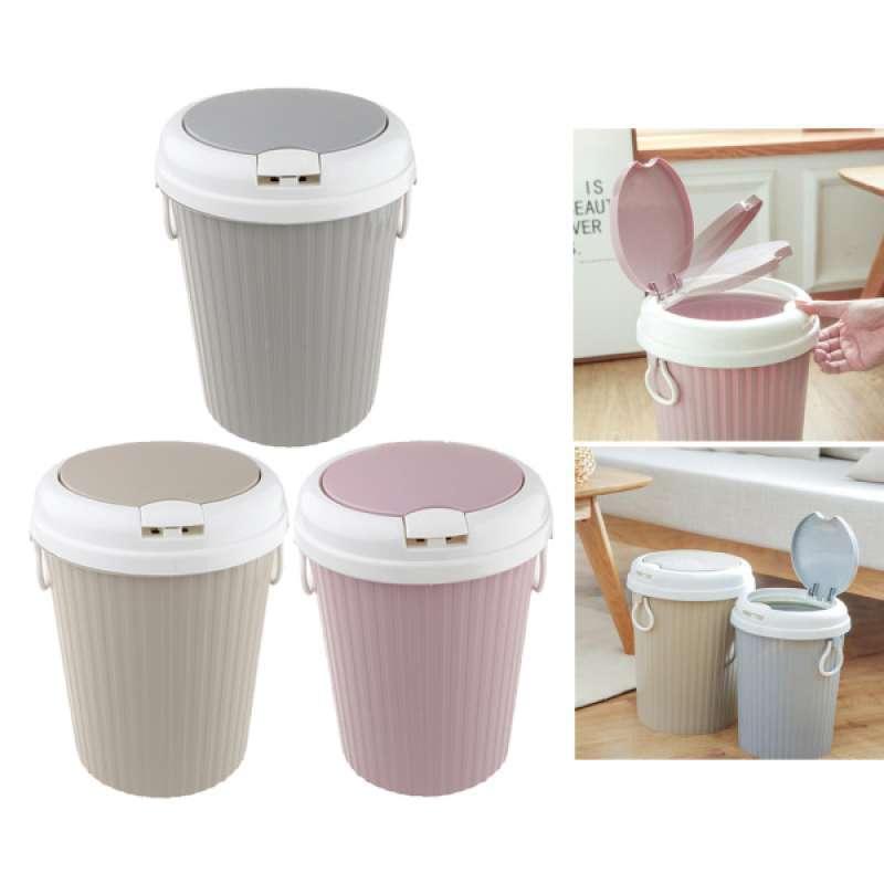 Jual 3pcs Wastebasket Plastic Garbage Trash Bin Can For Office Home Bedroom Bathroom Online November 2020 Blibli Com