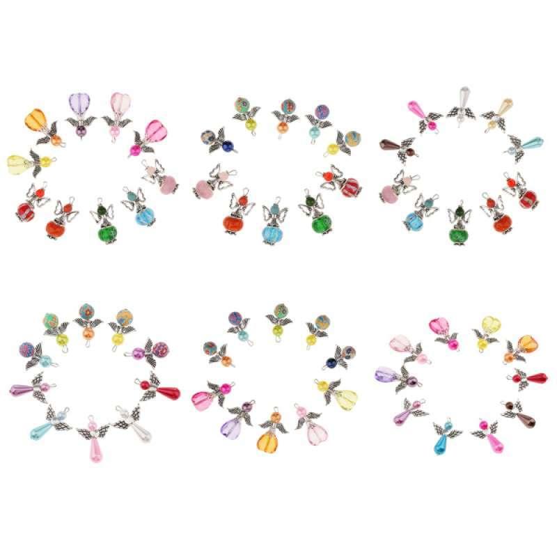 Jual 60pcs Mixed Acrylic Abs Pearl Beads Dancing Angel Wing Charm Pendant 33x21mm Terbaru Juni 2021 Blibli