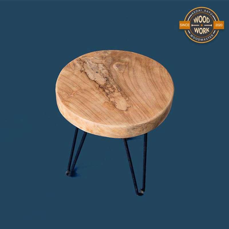 Jual Hiasan Dekorasi Perlengkapan Rumah Kursi Cafe Bulat Kayu Minimalist D95 Online Oktober 2020 Blibli Com