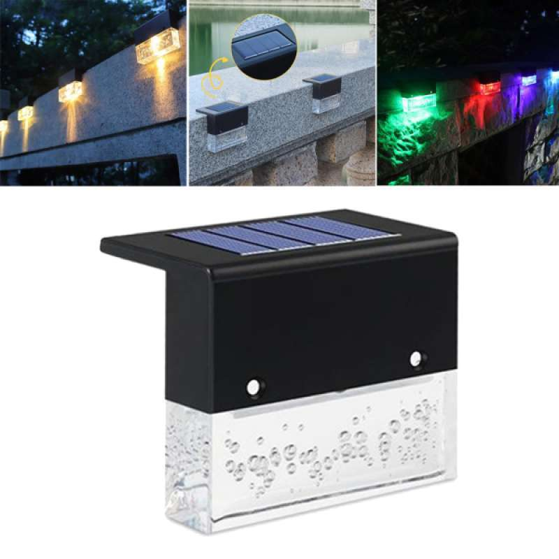 Jual Wall Mounted Solar Light Outdoor Landscape Lighting For Step Patio Railing Online Januari 2021 Blibli