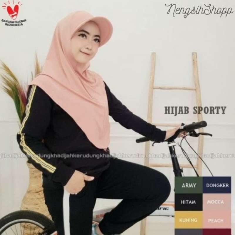 Jual Hijab Jilbab Kerudung Bergo Instan Khimar Sporty Online November 2020 Blibli