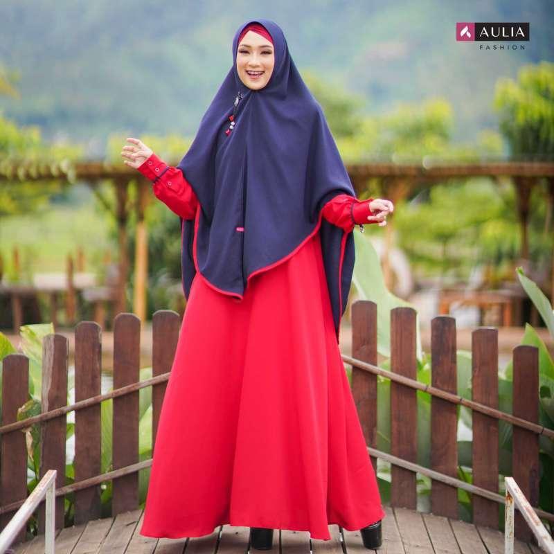 Jual Set Gamis Aulia Yumna Scarlet Lake Setelan Gamis Syari Dress Muslimah Online Maret 2021 Blibli