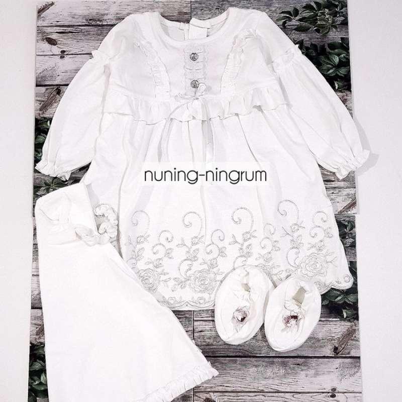 Jual Baju Muslim Bayi Gamis Bayi Perempuan Baju Akikah Putih Set Sepatu Online Februari 2021 Blibli