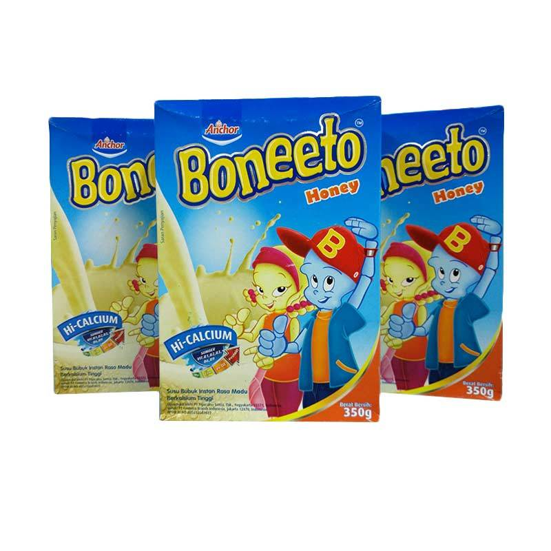 Boneeto Honey Yummy Susu Formula [3 box/ 350 g]