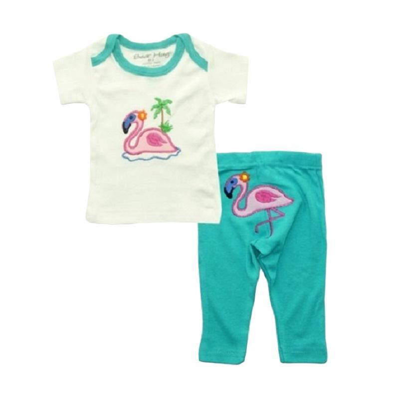 Bearhug Baby Girl Flamingo Set Pakaian Anak [2 Pcs]