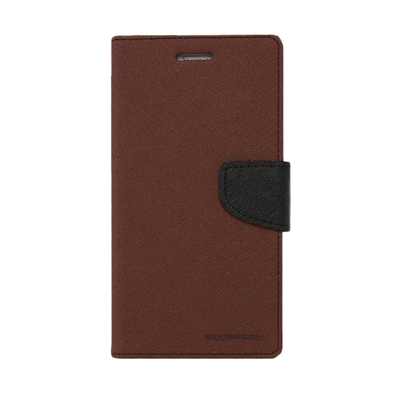 Mercury Fancy Diary Casing for iPhone 7 - Coklat Hitam