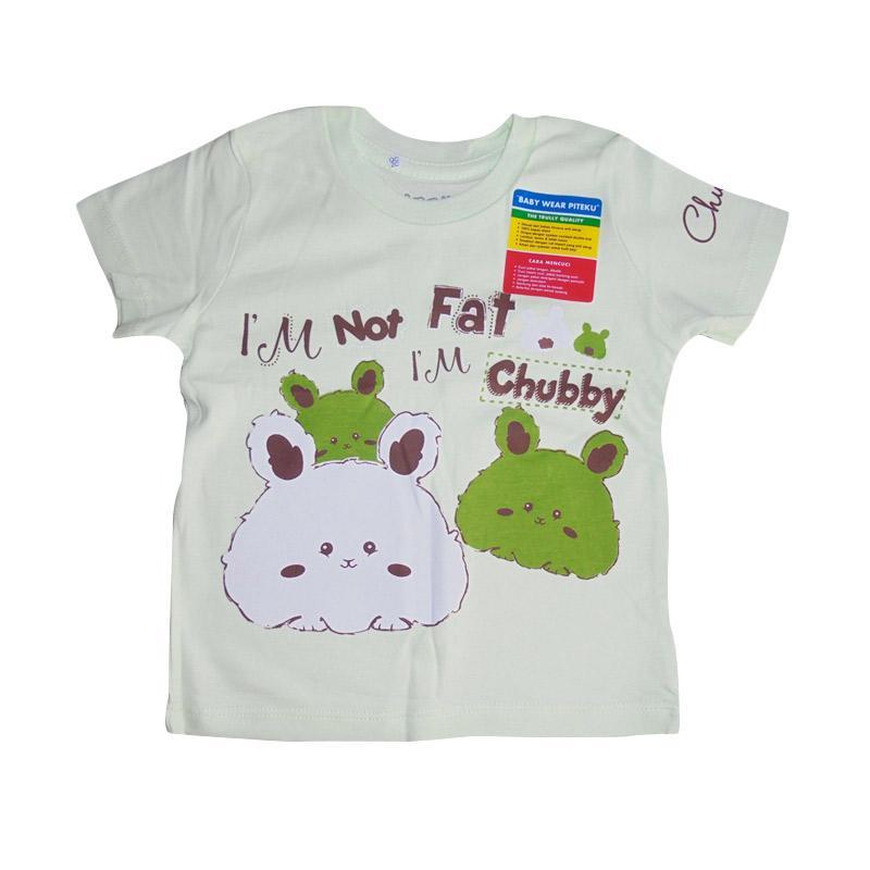Piteku motif Classic Chubby T-Shirt - Hijau