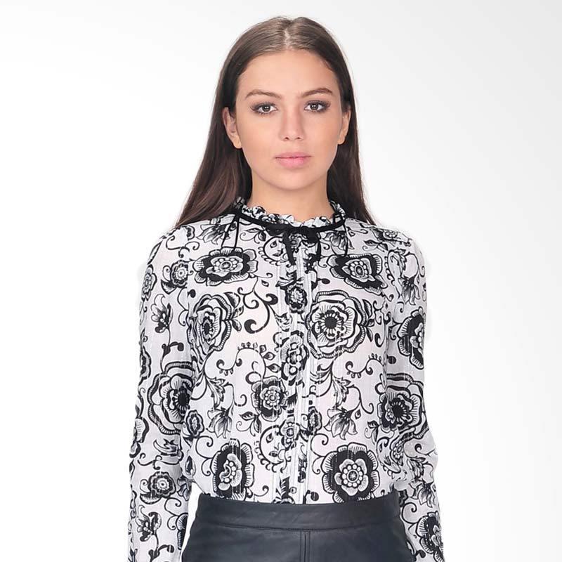 SJO & Simpaply Glamour Print Women's Shirt - Black