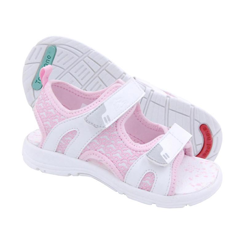 Toezone Kids Jenner 2 Yt Sepatu Sandal Anak Perempuan - White Pink