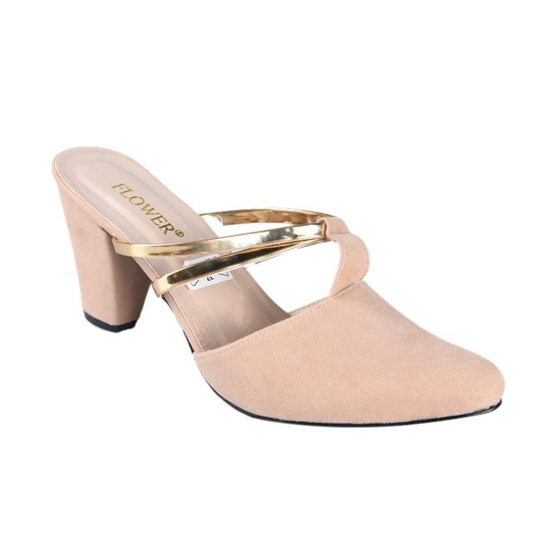 harga FP - Flower Sepatu SN-236 High Heels Wanita - Coklat Blibli.com