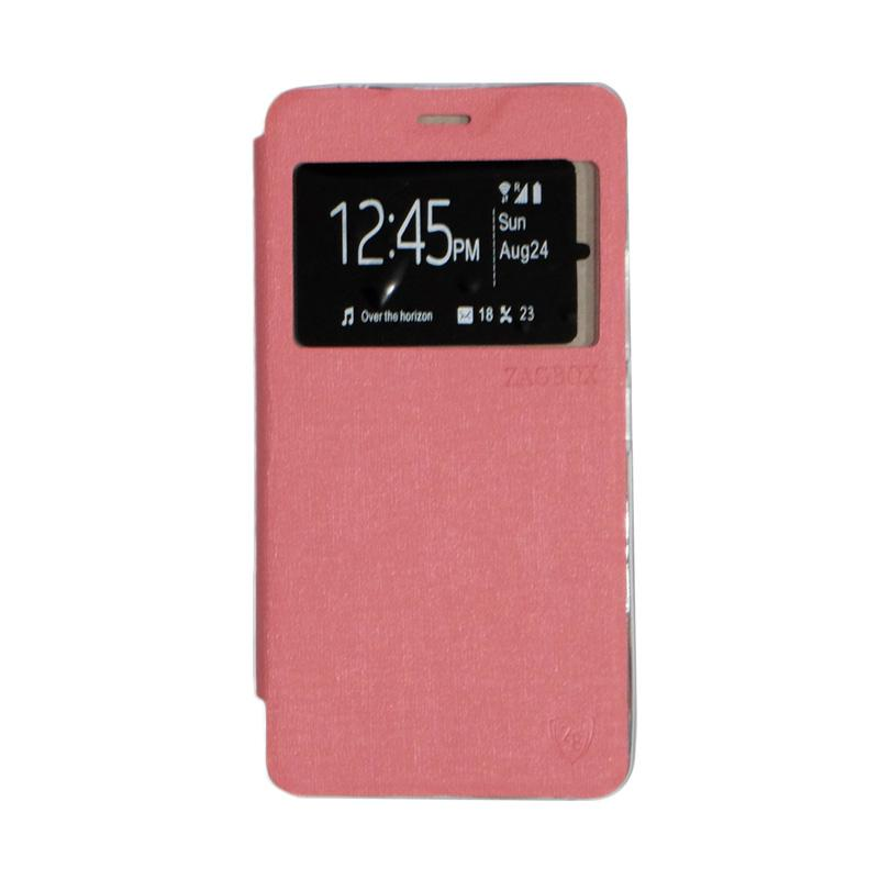 ZAGBOX Flip Cover Casing for Lenovo A7700 - Pink