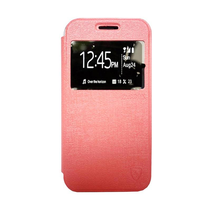 Zagbox Flip Cover Casing for Samsung Galaxy J1 Ace - Pink