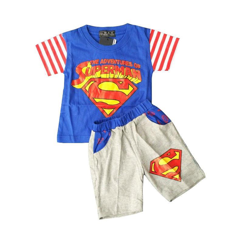 harga Baby Zakumi Baju Setelan Anak Laki Laki Spiderman - Blue Blibli.com