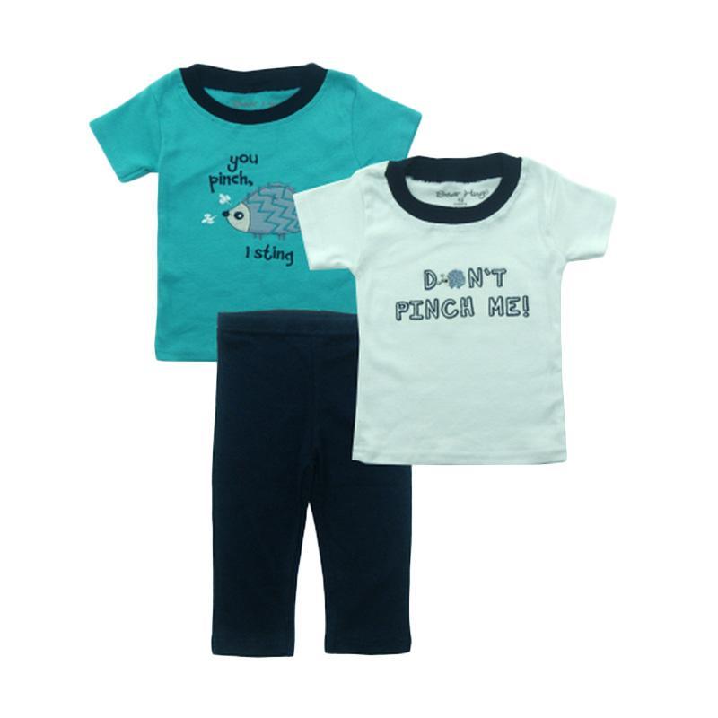 Bearhug Landak Set Bayi Laki-laki - Hijau [3 Pcs]