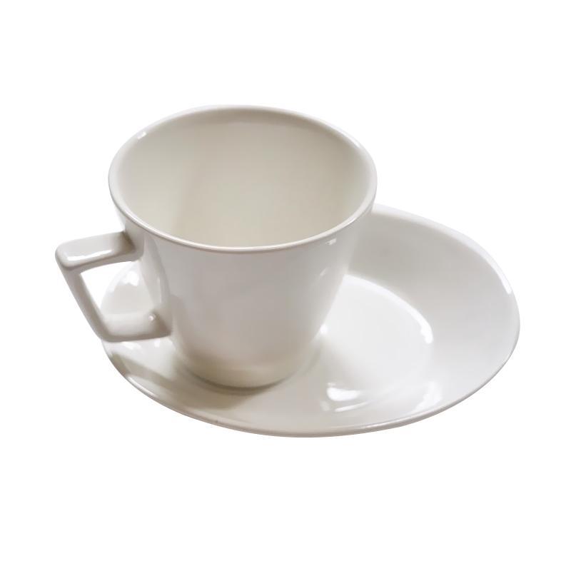 DGN Coffee Latte Cup and Saucer Cangkir Kopi - Putih